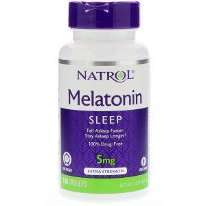 Natrol, Melatonina, Liberação com o Tempo, 5 mg, 100 Comprimidos   Comprar Suplemento em Promoção Site Barato e Bom