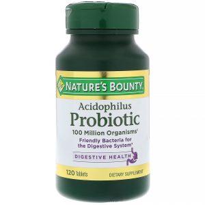 Nature's Bounty, Probiótico Acidophilus, 120 Tabletes   Comprar Suplemento em Promoção Site Barato e Bom