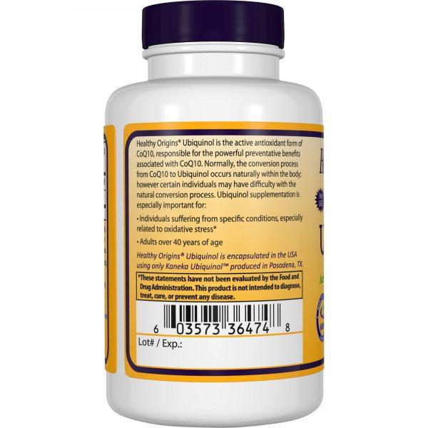 Healthy Origins, Ubiquinol, Kaneka Q+, 200 mg, 60 Softgels   Comprar Suplemento em Promoção Site Barato e Bom