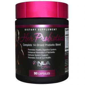 NLA for Her, Probióticos Para Mulheres, Composto Completo com 14 Variedades de Probióticos, 90 Cápsulas   Comprar Suplemento em Promoção Site Barato e Bom