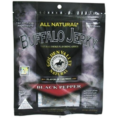Golden Valley Natural Buffalo Jerky, Pimenta preta - 3 oz   Comprar Suplemento em Promoção Site Barato e Bom