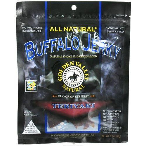 Golden Valley Natural Buffalo Jerky, Teriyaki - 3 oz   Comprar Suplemento em Promoção Site Barato e Bom