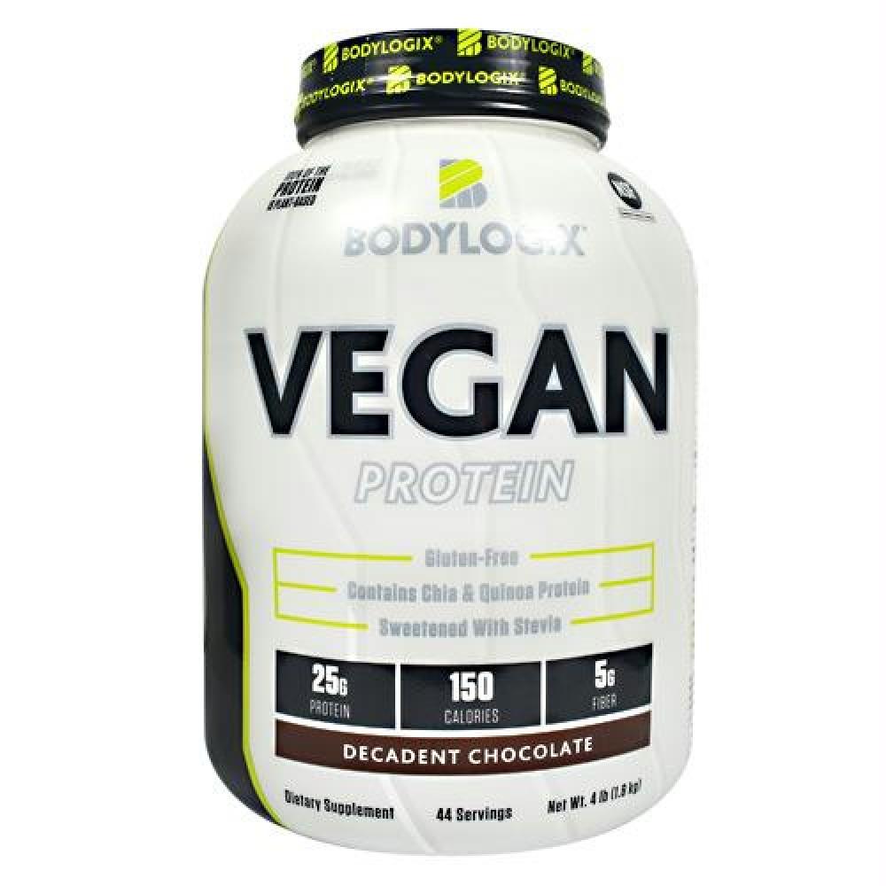 45e2f0a0a Bodylogix Vegan Protein Decadent Chocolate - Gluten Free - 4lb. (1.8kg)  Comprar