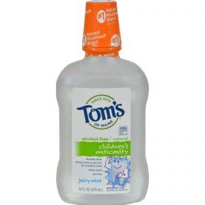 Tom's Of Maine Children's Anticavity Fluoride Rinse Juicy Mint - 16 Fl Oz   Comprar Suplemento em Promoção Site Barato e Bom
