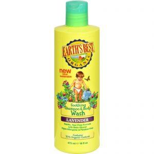 Earth's Best Organic Shampoo And Body Wash Lavender - 16 Oz   Comprar Suplemento em Promoção Site Barato e Bom
