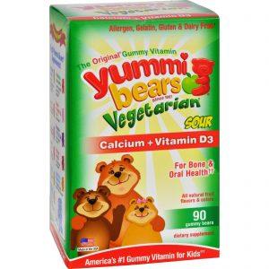 Hero Nutritional Products Yummi Bears Vegetarian Calcium With Vitamin D - Fruit Flavors - 90 Ct   Comprar Suplemento em Promoção Site Barato e Bom