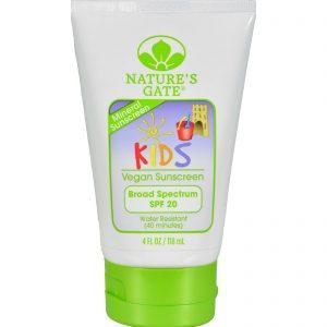 Nature's Gate Mineral Kids Block Spf 20 Fragrance Free - 4 Fl Oz   Comprar Suplemento em Promoção Site Barato e Bom