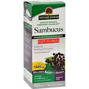 Nature's Answer Sambucus Nigra Black Elder Berry Extract Kids Formula - 4 Fl Oz   Comprar Suplemento em Promoção Site Barato e Bom
