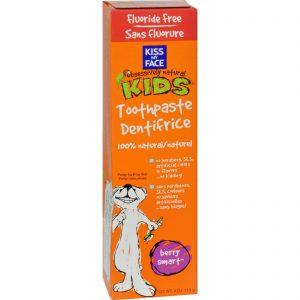 Kiss My Face Kids Toothpaste Fluoride Free Berry Smart - 4 Oz   Comprar Suplemento em Promoção Site Barato e Bom