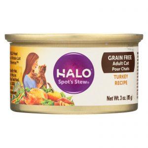 Halo Purely For Pets Spot's Stew For Cats - Wholesome Turkey Recipe - Case Of 12 - 3 Oz.   Comprar Suplemento em Promoção Site Barato e Bom