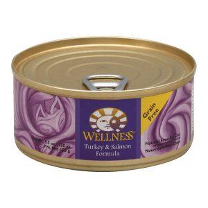 Wellness Pet Products Cat Food - Turkey And Salmon Recipe - Case Of 24 - 5.5 Oz.   Comprar Suplemento em Promoção Site Barato e Bom