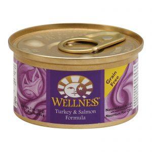 Wellness Pet Products Cat Food - Turkey And Salmon Recipe - Case Of 24 - 3 Oz.   Comprar Suplemento em Promoção Site Barato e Bom