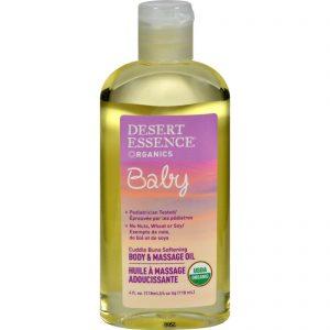 Desert Essence Baby Body And Massage Oil Cuddle Buns Softening Fragrance Free - 4 Fl Oz   Comprar Suplemento em Promoção Site Barato e Bom