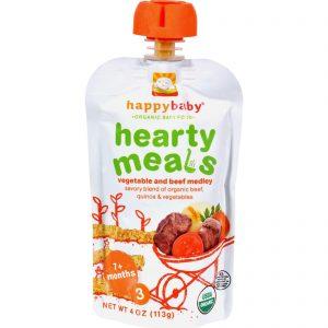 Happy Baby Organic Baby Food Stage 3 Beef Stew - 4 Oz - Case Of 16   Comprar Suplemento em Promoção Site Barato e Bom