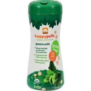 Happy Baby Organic Puffs Greens - 2.1 Oz - Case Of 6   Comprar Suplemento em Promoção Site Barato e Bom