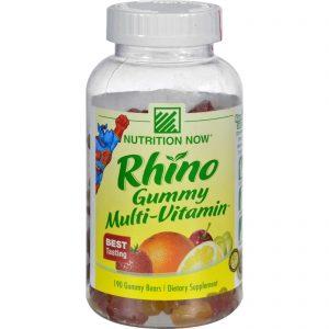 Nutrition Now Rhino Gummy Multi-vitamin - 190 Gummy Bears   Comprar Suplemento em Promoção Site Barato e Bom