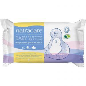 Natracare Organic Cotton Baby Wipes - 50 Pack   Comprar Suplemento em Promoção Site Barato e Bom