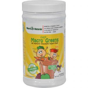 Macrolife Naturals Jr. Macro Coco-greens For Kids Chocolate - 3.3 Oz   Comprar Suplemento em Promoção Site Barato e Bom