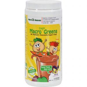 Macrolife Naturals Jr. Macro Coco-greens For Kids Chocolate - 7.1 Oz   Comprar Suplemento em Promoção Site Barato e Bom