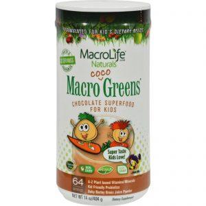 Macrolife Naturals Jr. Macro Coco-greens For Kids Chocolate - 14 Oz   Comprar Suplemento em Promoção Site Barato e Bom
