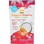 Happy Creamies Organic Snacks - Strawberry And Raspberry - Case Of 8 - 1 Oz   Comprar Suplemento em Promoção Site Barato e Bom