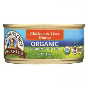 Newman's Own Organics Cat Food - Chicken And Liver - Case Of 24 - 5.5 Oz.   Comprar Suplemento em Promoção Site Barato e Bom