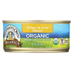 Newman's Own Organics Turkey And Liver Grain Free Dinner - Organic - Case Of 24 - 5.5 Oz.   Comprar Suplemento em Promoção Site Barato e Bom