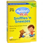 Hylands Homeopathic Sniffles 'n Sneezes 4 Kids - 125 Tablets   Comprar Suplemento em Promoção Site Barato e Bom