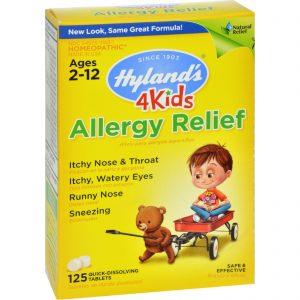 Hylands Homeopathic Allergy Relief 4 Kids - 125 Tablets   Comprar Suplemento em Promoção Site Barato e Bom