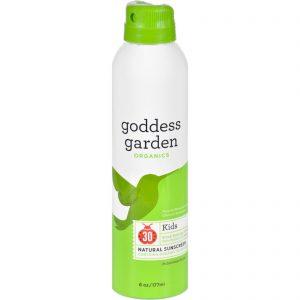 Goddess Garden Organic Sunscreen - Sunny Kids Natural Spf 30 Continuous Spray - 6 Oz   Comprar Suplemento em Promoção Site Barato e Bom