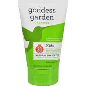 Goddess Garden Sunscreen - Organic - Sunny Kids - Spf 30 - 3.4 Fl Oz   Comprar Suplemento em Promoção Site Barato e Bom