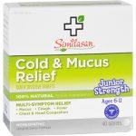 Similasan Cold And Mucus Relief - Junior Strength - Ages 6 To 11 - 40 Tabs   Comprar Suplemento em Promoção Site Barato e Bom