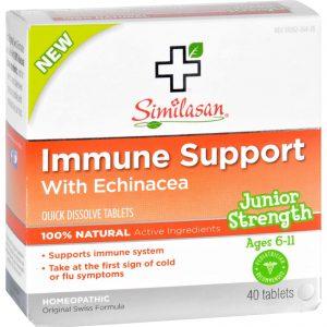 Similasan Immune Support - Echinacea - Junior Strength - Age 6 11 - 40 Ct   Comprar Suplemento em Promoção Site Barato e Bom