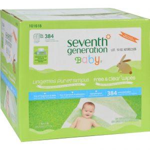 Seventh Generation Baby Wipes - Free And Clear - Multipack - 64 Wipes Each - 6 Count   Comprar Suplemento em Promoção Site Barato e Bom