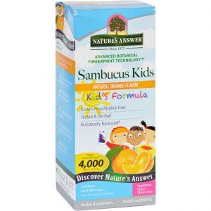 Natures Answer Sambucus - Kids Formula - Natural Orange Flavor - 8 Oz   Comprar Suplemento em Promoção Site Barato e Bom