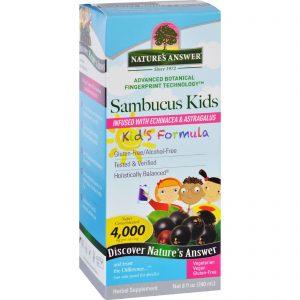 Natures Answer Sambucus - Kids Formula - Original Flavor - 8 Oz   Comprar Suplemento em Promoção Site Barato e Bom