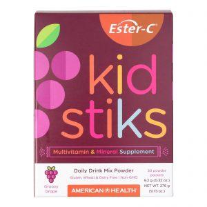 American Health Ester-c - Kid Stiks - Groovy Grape - 30 Packets   Comprar Suplemento em Promoção Site Barato e Bom