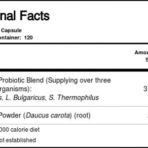 Solaray Acidophilus Além disso Suco de cenoura Três bilhões 120 Cápsulas   Comprar Suplemento em Promoção Site Barato e Bom