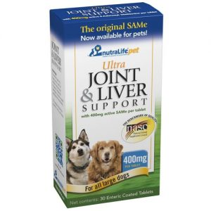 NutraLife Pet Ultra Joint and Liver Support, Todos os cachorros grandes - 400 mg - 30 Enteric Coated Tabletes   Comprar Suplemento em Promoção Site Barato e Bom