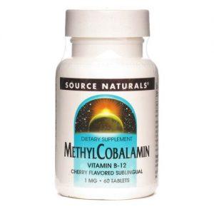 Source Naturals Metilcobalamina Vitamina B12, cereja - 1 mg - 60 Tabletes   Comprar Suplemento em Promoção Site Barato e Bom