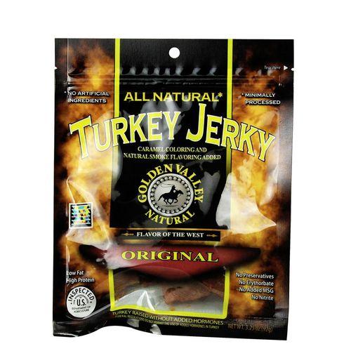 Golden Valley Natural Turkey Jerky, Original - 3.25 oz   Comprar Suplemento em Promoção Site Barato e Bom