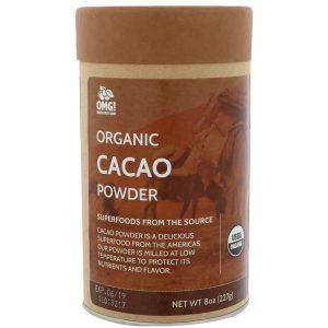 OMG! Food Company, LLC, Organic, Cacao Powder, 8 oz (227 g)   Comprar Suplemento em Promoção Site Barato e Bom