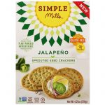 Simple Mills, Sprouted Seed Crackers, Jalapeno, 4.25 oz (120 g)   Comprar Suplemento em Promoção Site Barato e Bom