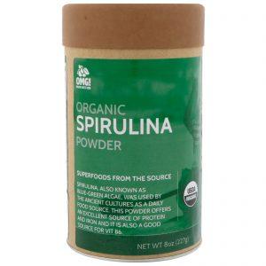 OMG! Food Company, LLC, Orgânico, Spirulina em Pó, 8 oz (227 g)   Comprar Suplemento em Promoção Site Barato e Bom