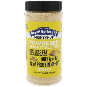 Peanut Butter & Co., Mighty Nut, Manteiga de amendoim em Pó, Mel, 6.5 oz (184 g)   Comprar Suplemento em Promoção Site Barato e Bom