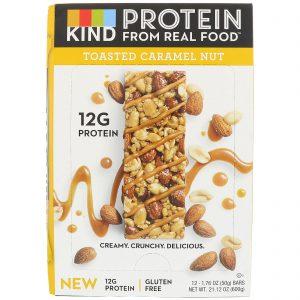 KIND Bars, Barras de Proteínas, Castanha Torrada Caramelizada, 12 Barras, 1,76 oz (50 g) Cada   Comprar Suplemento em Promoção Site Barato e Bom