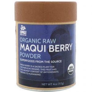 OMG! Food Company, LLC, Orgânico, Pó de Maqui Berry Natural, 4 oz (113 g)   Comprar Suplemento em Promoção Site Barato e Bom