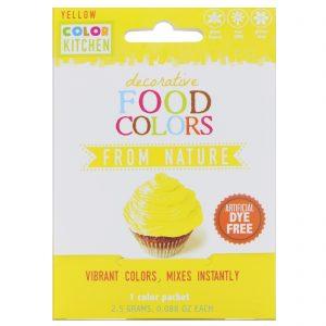 ColorKitchen, Decorative Food Colors, From Nature, Yellow, 1 Color Packet, 0.088 oz (2.5 g)   Comprar Suplemento em Promoção Site Barato e Bom