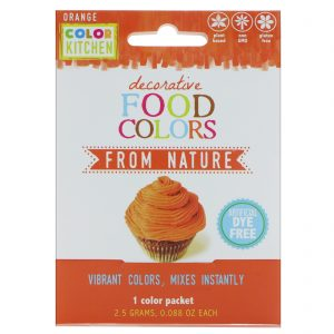 ColorKitchen, Decorativo, Corantes Alimentícios da Natureza, Laranja, 1 Embalagem de Corante, 0,088 oz (2,5 g)   Comprar Suplemento em Promoção Site Barato e Bom