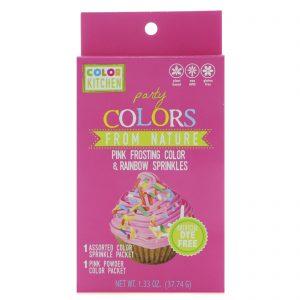 ColorKitchen, Party, Coresd da Natureza, Cobertora Rosa Polvilhada com Arco-Íris, 1.33 oz (37,74 g)   Comprar Suplemento em Promoção Site Barato e Bom